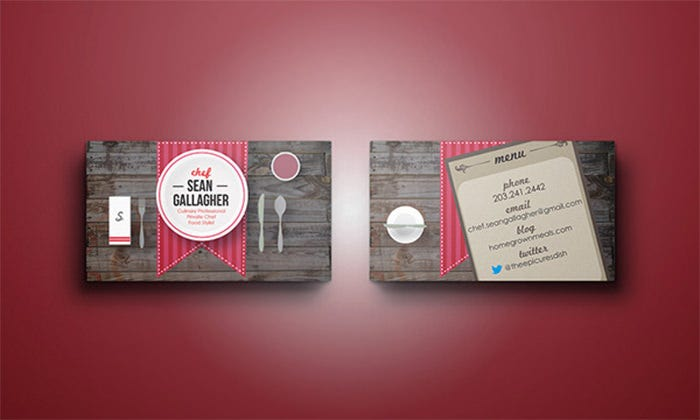 22 Creative Chefs Business Card Templates Psd Word Ai