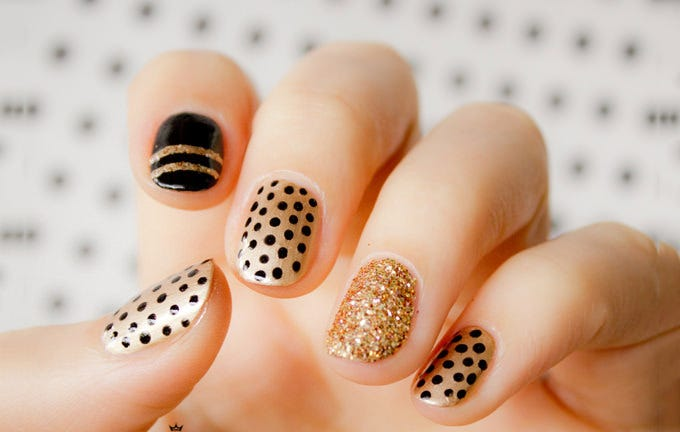 simple nail art design idea