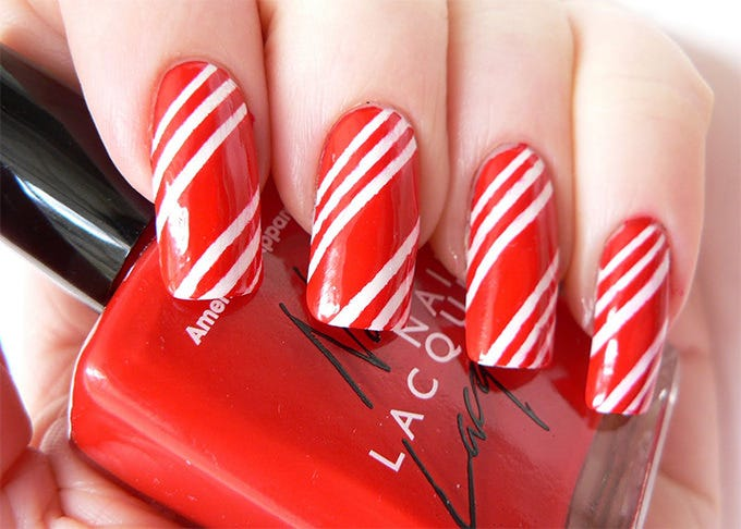 Simple Stripes Nail Art Design Idea