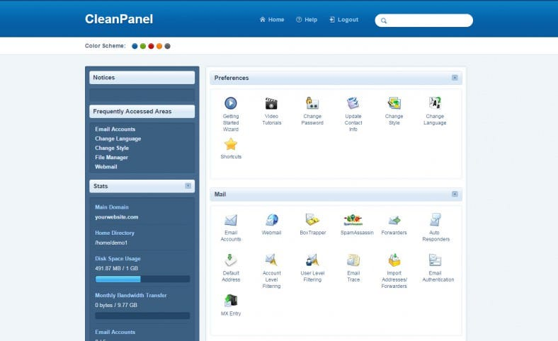 Simple User Interface CleanPanel Design