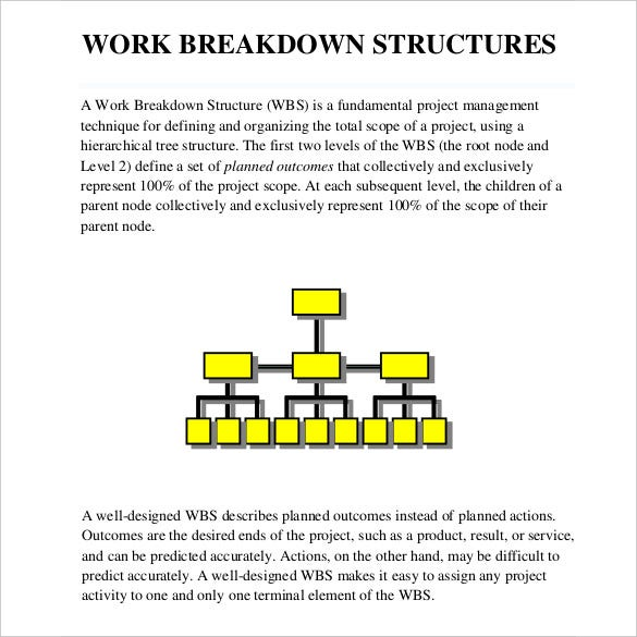 simple-work-breakdown-structure