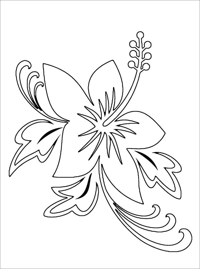 simple free flower template1