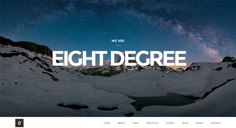Single Page Parallax WordPress Theme