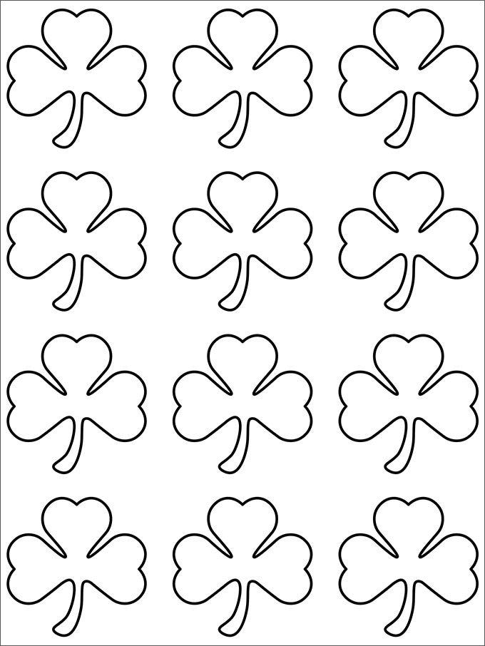 small shamrock pattern template free