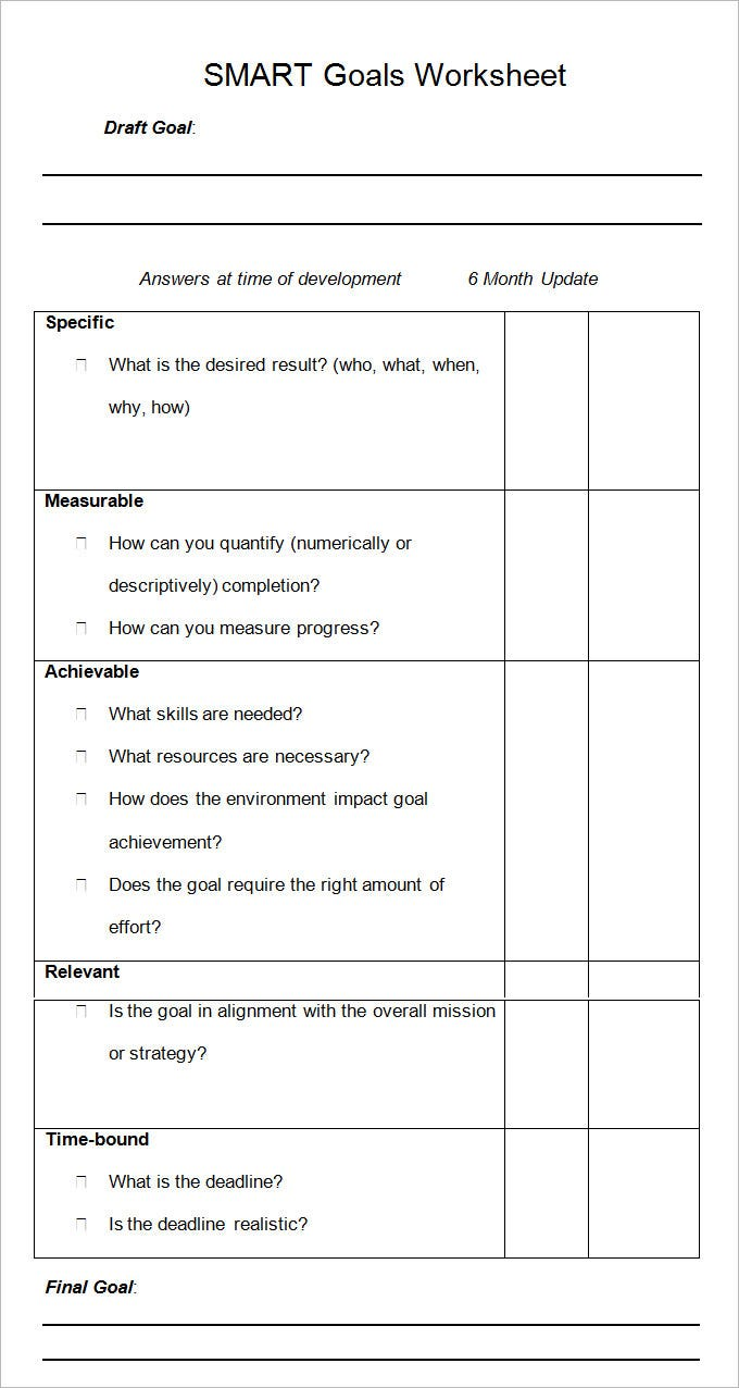 Worksheets Goal Setting Worksheet Pdf smart goal template 4 free pdf word documents download the smartest goals annual planner template