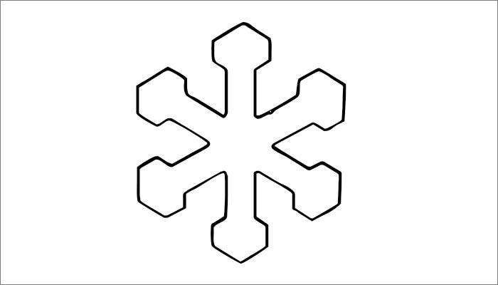 Snowflake Printable Template