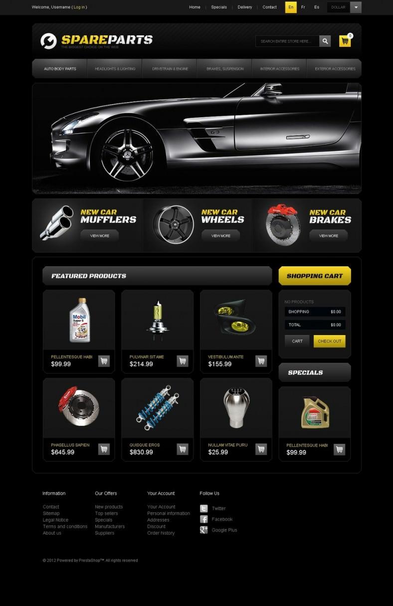 Spare Parts Store PrestaShop Template