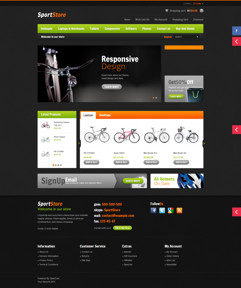 10+ Best Sports OpenCart Website Templates & Themes | Free ...