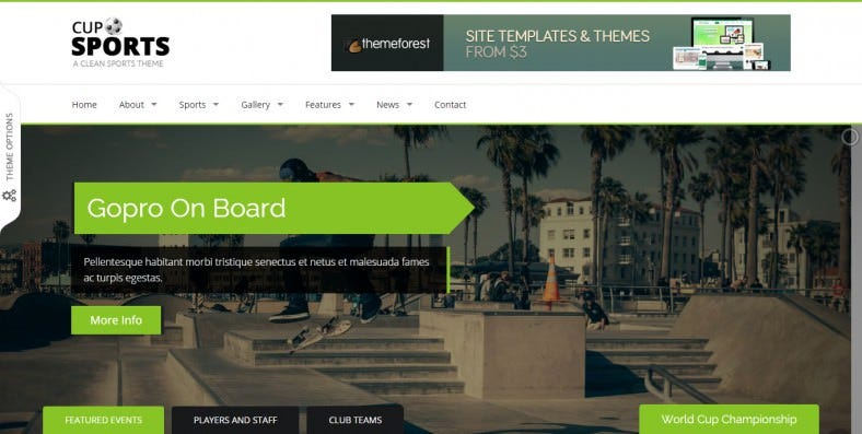 Bootstrap 3 Sporting Html Template