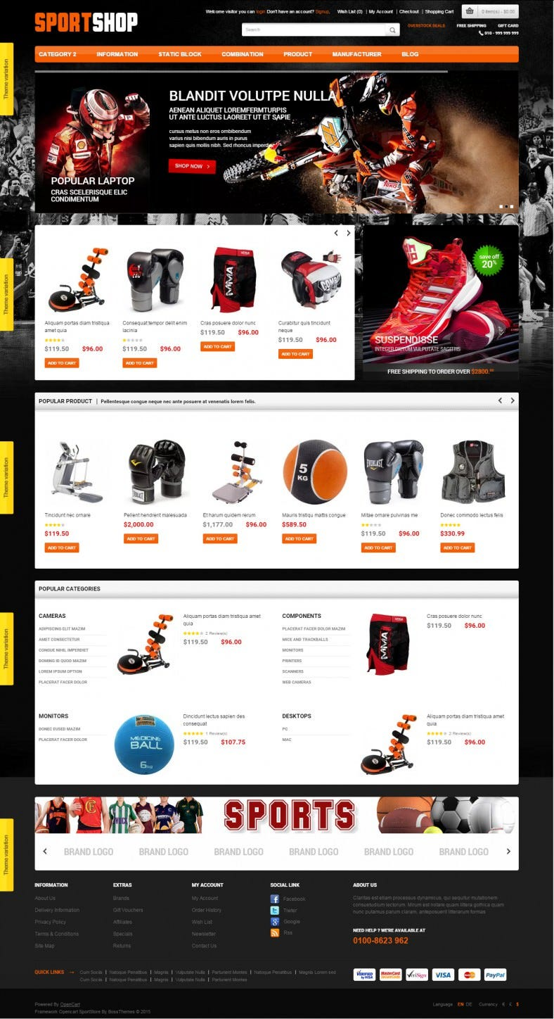 Sports Responsive OpenCart Theme