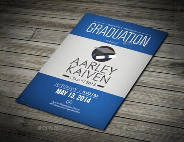standard graduation invitation template
