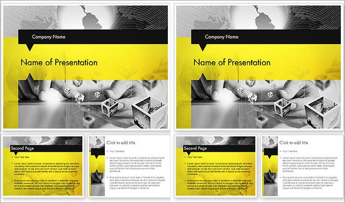 strict and creative business collage powerpoint template