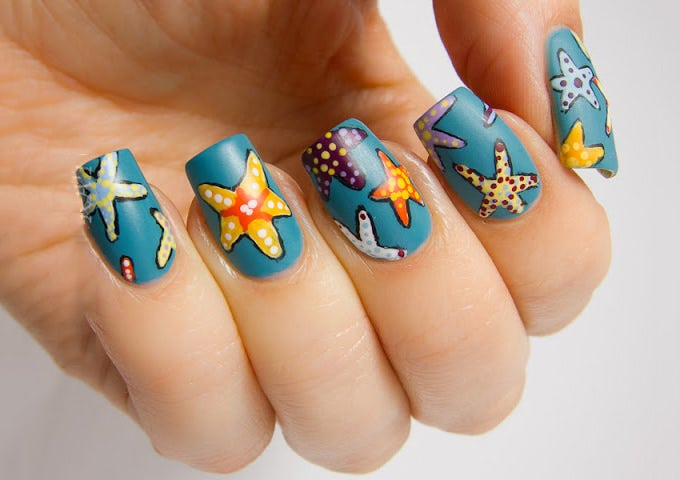 stunning nail art design