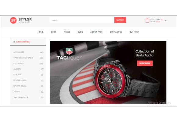 styler mega shop responsive zencart theme