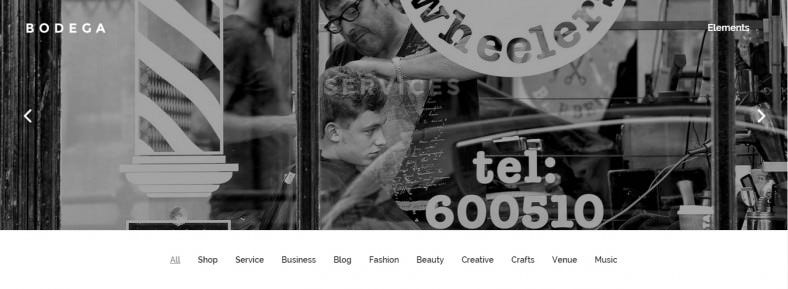 Stylish Parallax WordPress Theme For Small Businesses