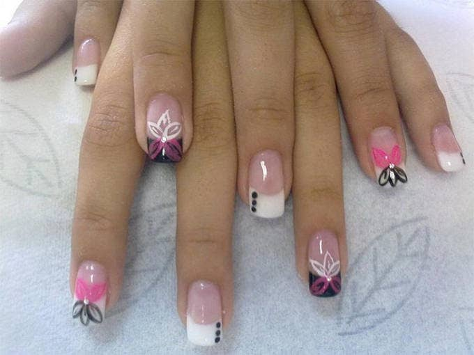summer acrylic nails design