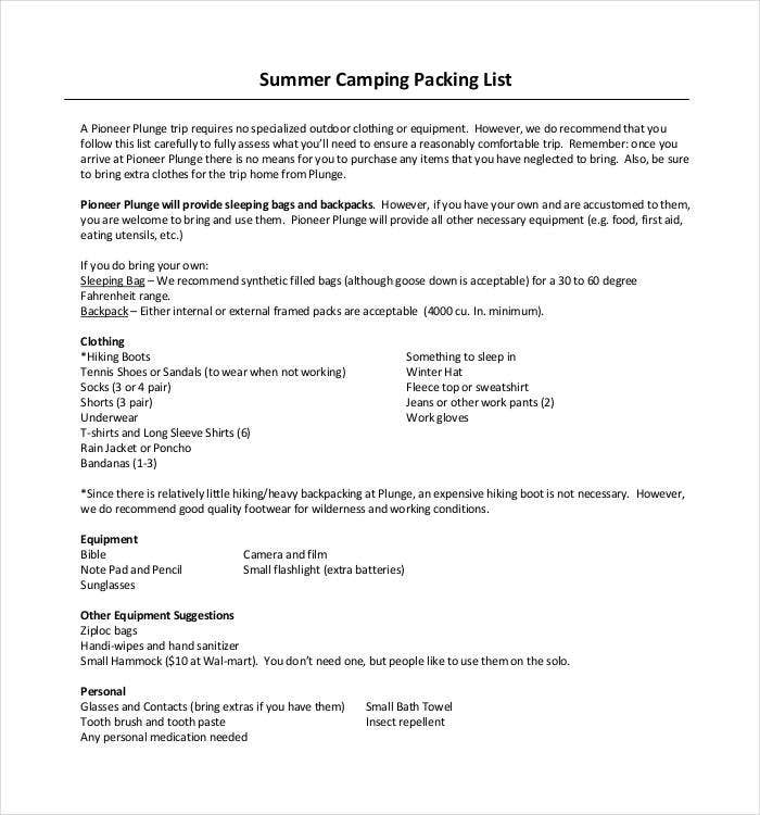 summer-camping-packing-list