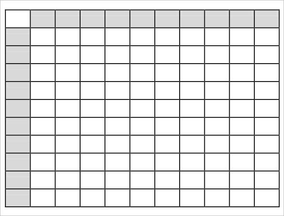 picture regarding Free Printable Super Bowl Squares Template called Tremendous Bowl Squares Template Free of charge Quality Templates
