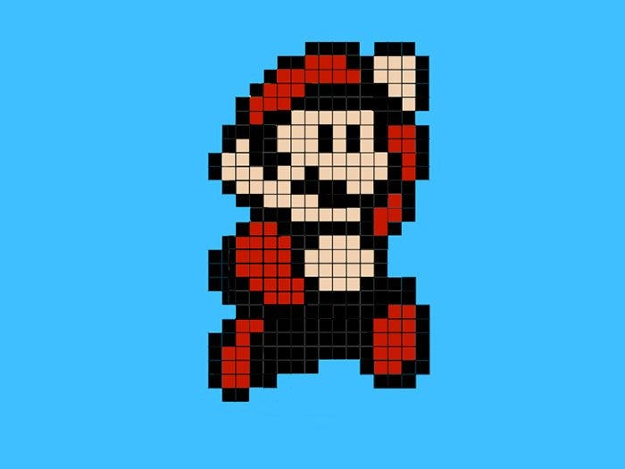 super mario minecraft pixel art templates1