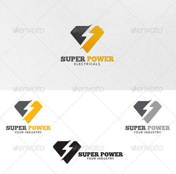 super power logo template