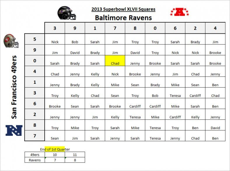 super bowl 2015 squares template - 2015 super bowl squares excel template autos post