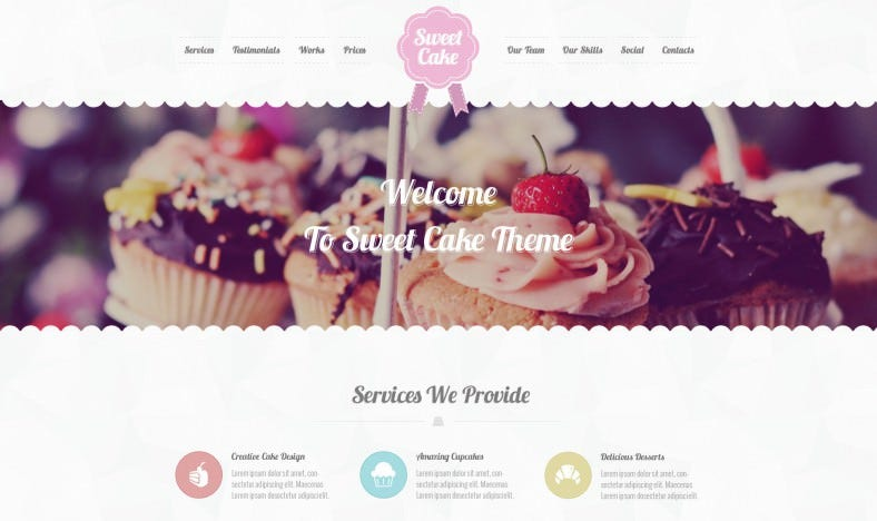 Responsive WordPress Bakery Theme