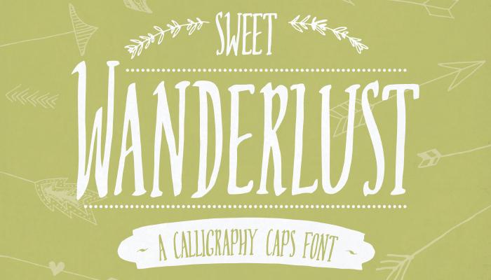 Sweet Wanderlust Font