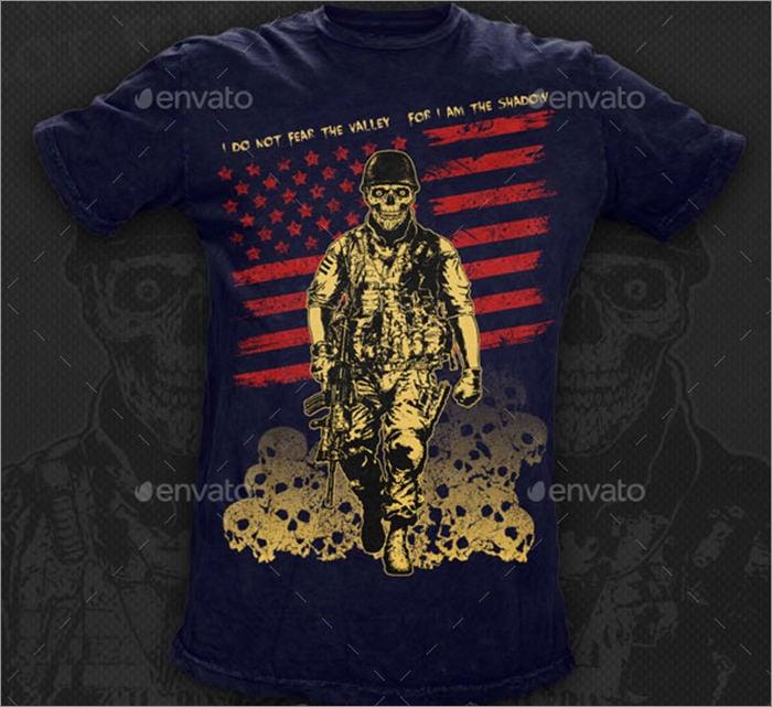 t shirt illustration the skull soldier
