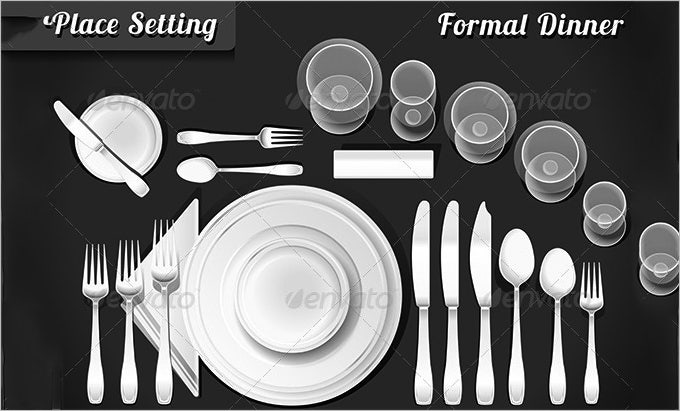table place setting template