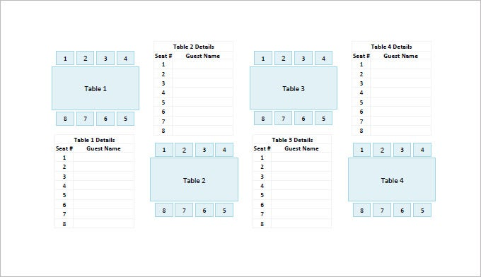 table seating chart template .