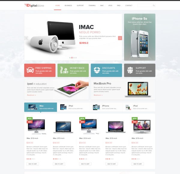 technology and electronics prestashop 1