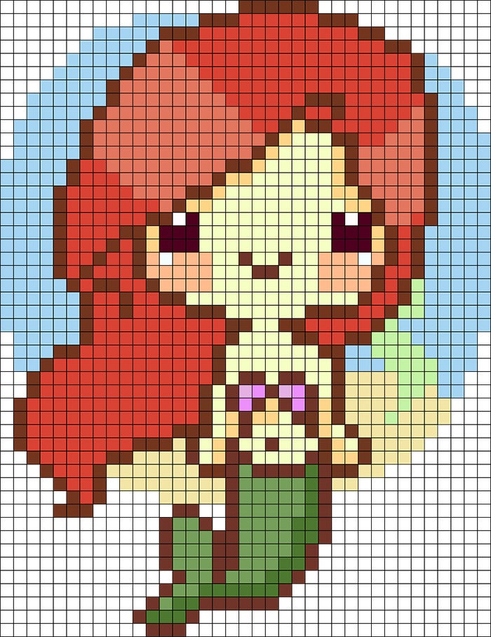 Amazing Pixel Art Template to Download