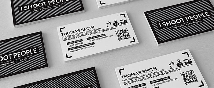 thomas smith free photography business card template1