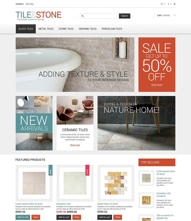 Tile Stone Design Store PrestaShop Theme