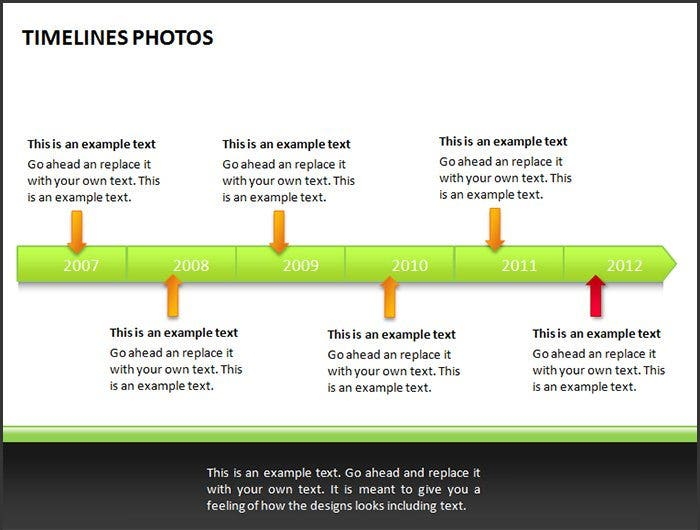 timeline template with photos example