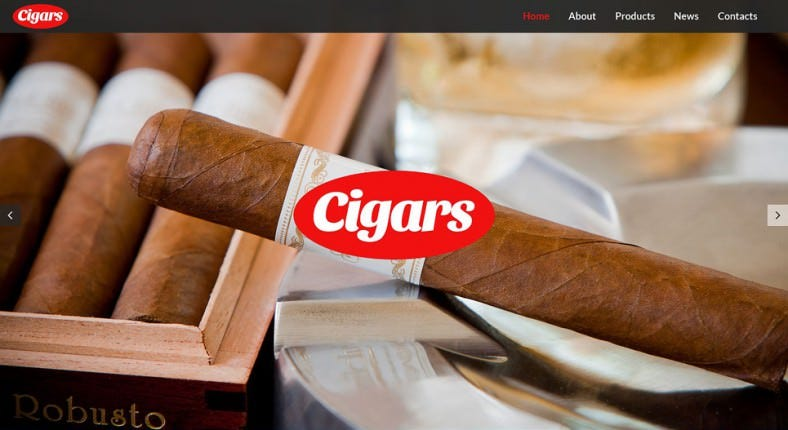 Tobacco Company WordPress Theme
