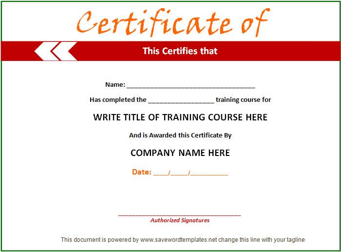 training certificate template 21 free word pdf psd