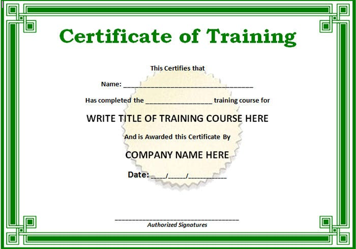 Free training certificate template oloschurchtp nice free training certificate template pictures inspiration certificate format for summer training image collections yadclub images yadclub Image collections
