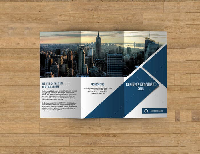 trifold business brochure v187