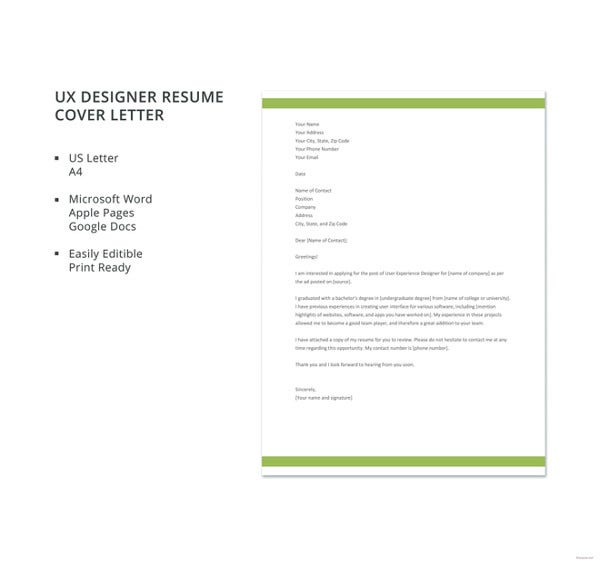resume cover letter template 17 free word excel pdf documents