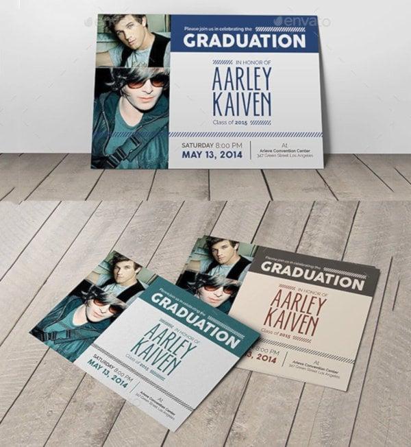 unique graduation invitation template