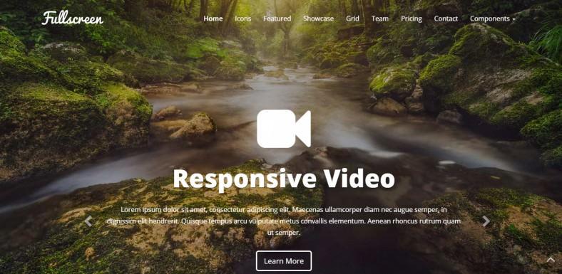 Fullscreen Responsive Bootstrap Template