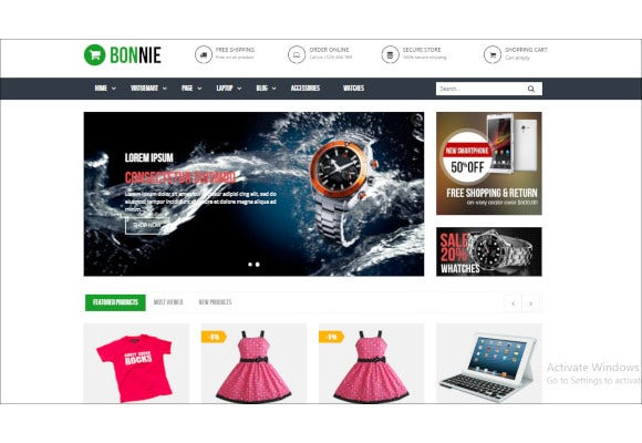 vina bonnie responsive multipurpose virtuemart template