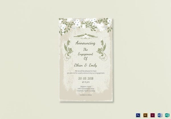 vintage-engagement-announcement-card-template