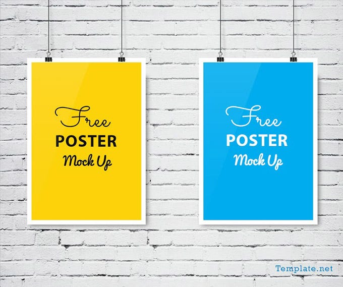 wall poster mockup psd free download