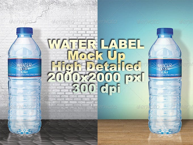 Water Bottle Label Templates