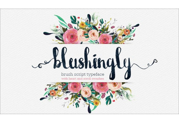 wedding script font with swashes