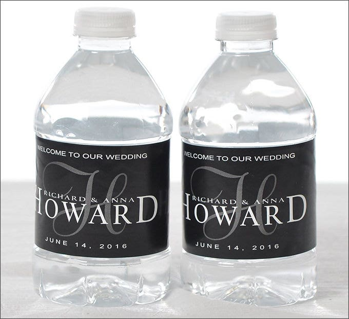 wedding water bottle labels1