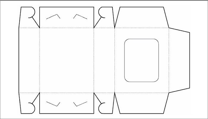 window free box template