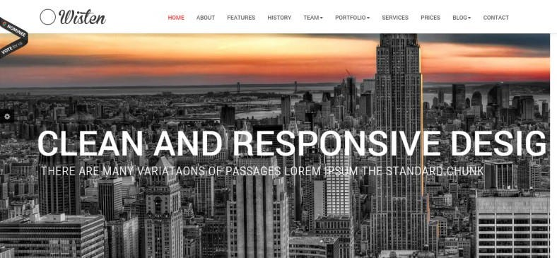 Wordpress One Page Parallax Theme